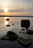 Spring sea sunset Royalty Free Stock Image