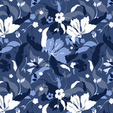 Spring seamless. Decorative blue background Stock Photos