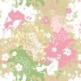 Spring seamless. Decorative pastel background Royalty Free Stock Images