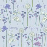 Spring seamless background Stock Photo