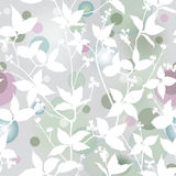 Spring seamless background.  Floral leaves texture. Stock Images