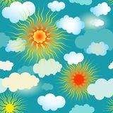 Spring seamless blue pattern Royalty Free Stock Photo