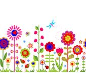 Spring seamless border Royalty Free Stock Image