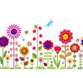 Spring seamless border Royalty Free Stock Image