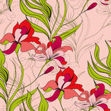 Spring seamless pattern. Universal template for greeting card, web page, background Stock Photos