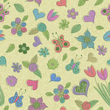 Spring seamless pattern Stock Photography