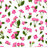 Spring seamless pattern background with cherry blossom Royalty Free Stock Photos