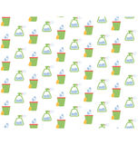 Spring seamless pattern with cleaning tools isolated on white Stock Image