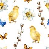 Spring seamless pattern royalty free illustration