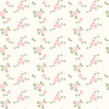 Spring seamless pattern with hearts and roses stock photo