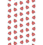 Spring seamless pattern with ladybugs isolated on white Stock Photos