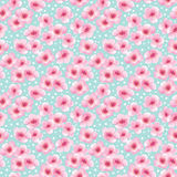 Spring seamless pattern with blossom flowers Royalty Free Stock Images