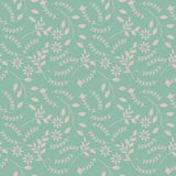 Spring seamless pattern with plants and flowers Stock Images