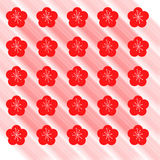 Spring seamless pattern with red flowers Royalty Free Stock Photography