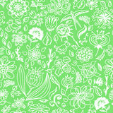 Spring seamless pattern with spring flowers Royalty Free Stock Images