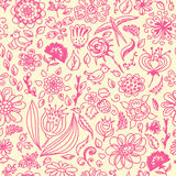 Spring seamless pattern with spring flowers Stock Photos