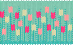 Spring seamless pattern with tulips royalty free illustration