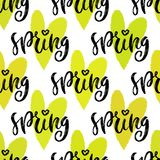 Spring seamless pattern. Vector repeating texture. Hand drawn ornament for wrapping paper, web backdrop. Royalty Free Stock Photos