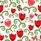 Spring seamless pattern vector illustration