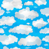 Spring seamless pattern wuth clouds Stock Photo