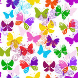 Spring seamless vivid white pattern Royalty Free Stock Images