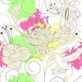 Spring seamless wallpaper. With colorful spots Royalty Free Stock Photos
