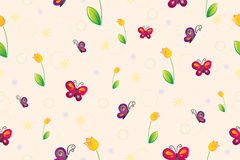 Spring seamless wallpaper Stock Image