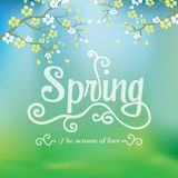 Spring season background, vector Stock Images