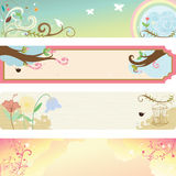 Spring season banner. A illustration of collection of spring season banners vector illustration