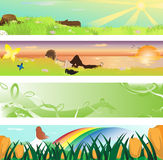 Spring season banner. A illustration of collection of spring season banners royalty free illustration
