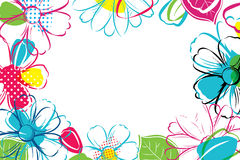 Spring season banner template background with colorful flower.Can be use voucher, wallpaper,flyers, invitation, posters, brochure. Coupon discount royalty free illustration