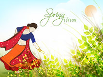 Spring season concept with a woman. Royalty Free Stock Photo