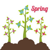 Spring season design Royalty Free Stock Images