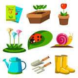 Spring Season Gardening Icons vector illustration