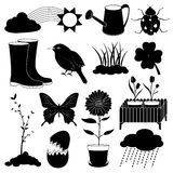 Spring Season Icons Collection Royalty Free Stock Image