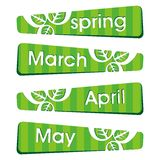 Spring season stickers and label Stock Images
