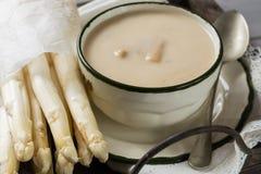 Spring Season - White Asparagus Soup, Ready To Eat Stock Image