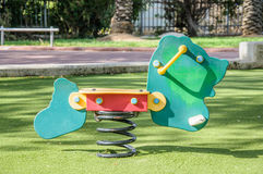 Spring seesaw in the playground Stock Images