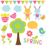 Spring set Royalty Free Stock Photo