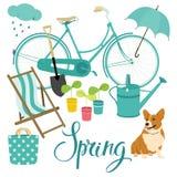 Spring set Stock Photo