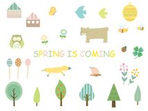 Spring set stock illustration