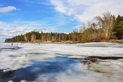 Spring. Siberia, river Ob Stock Photos