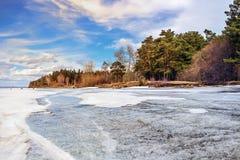 Spring. Siberia, river Ob Stock Images