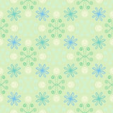 Spring simple and clean pattern with flowers Royalty Free Stock Photo
