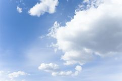 Spring Sky. Blue sky with cumulus clouds Stock Images