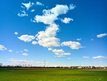 Spring sky in Brianza. In the north of italy stock photo