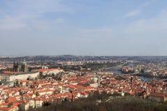 Spring skyline of Prague Stock Images