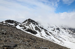 Spring slope of Veleta in the Sierra Nevada Stock Images