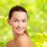 Spring and smiling beauty Royalty Free Stock Images