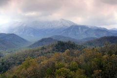 Spring Snow. Storm near Gatlinburg Tennessee. Great Smoky Mountains National Park royalty free stock photos